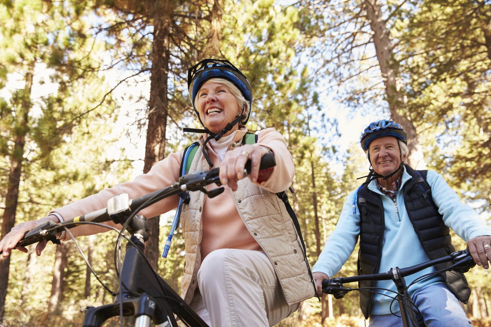 Couple Riding Bikes in Oklahoma City, OK