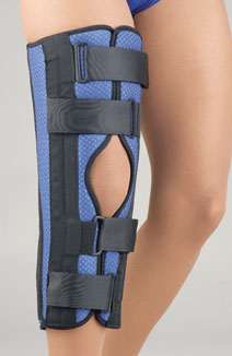 FLA orthopedics TriPanel Foam Knee brace on woman's leg