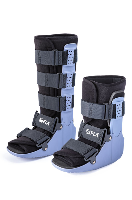 FLA Orthopedics standard and high ankle walker boots